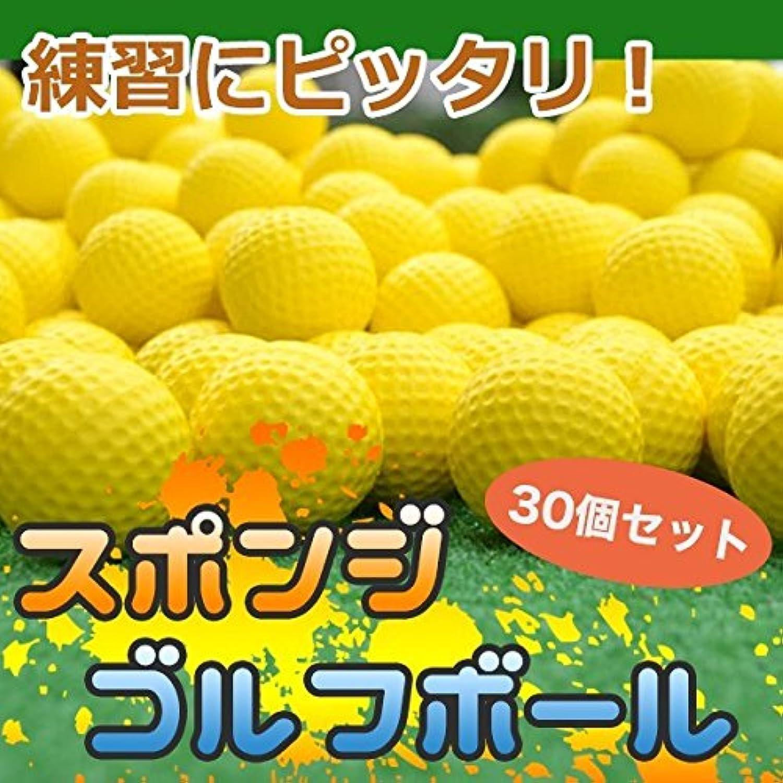My Vision ゴルフ ボール 練習 ウレタンボール スポンジ 夜間 黄色 30個セット MV-Q008-30