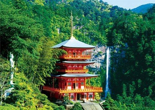 特選 四季の詩 1000スモールピース 青岸渡寺と聖なる那智滝 (38cm×53cm、対応パネルNo.5-B)