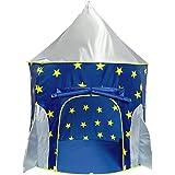子供テント 男の子のおもちゃハウス 夜光のキッズテントハウス ロケット型 折り畳み式 知育玩具 室内遊具 簡単に組立 お…