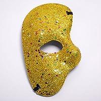 HuaQingPiJu-JP クリエイティブパーティーハーフフェイスゴールドミステリーレディーマスク(ゴールド)