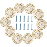 Cabinet Knobs, Hellopet 10PCS Ivory White 33mm Drawer Knobs Door Pull Handle for Dresser Cupboard Cabinet Wardrobe, 10 Pack
