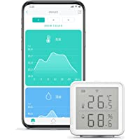 LinkJapan 温湿度計 eSensor2 デジタル WiFi スイス製高精度センサー ハブ不要でスマホと接続 グラ…