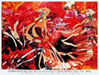 James Rosenquist-Pearls Before Swine, Flowers before Flames-1990 Poster