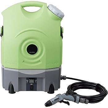 ツカモトエイム バッテリー内蔵 ポータブルウォッシャー(グリーン) AIM-PWR01(GR)