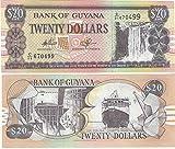 コレクターのための紙幣 - 銀行ガイアナの20ドル紙幣クリスプ/ 1996 /ガイアナ/ UNC