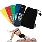 Set of 5 Booty Resistance Bands, Exercise Loop Bands for Legs and Glutes, Ideal for Home Workouts, Workouts while...