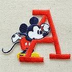 ワッペン ディズニー ミッキーマウス アルファベット(A/レッド) MY4001-MY306
