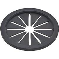 GAONA(ガオナ) 排水口カバー ブラック 約直径7.9×厚み0.5cm (菊割れゴム ゴミを隠す) GA-PB040