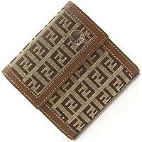 FENDI(フェンディ) 三つ折り財布 ズッキーノ 8M0161 ベージュ ブラウン キャンバス レザー 中古 FF ロゴ ウォレット FENDI [並行輸入品]