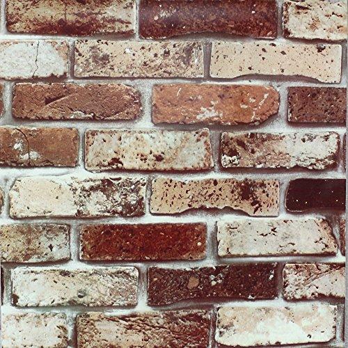 RoomClip商品情報 - 【 DIY 壁紙シール】高品質 壁紙 はがせるレンガ かんたん貼付シールタイプ 45cm×10m リフォーム ウォールステッカー 防水 防水 粘着シートトイレ キッチン 補修