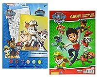 Nickelodeon Paw Patrol作成&プレイカラーリングペイントセット。Plus Bonus Paw Patrol Giant Coloring & Activity Book 。