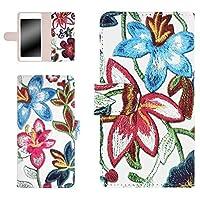 whitenuts LUMIX Phone 101P ケース 手帳型 【左利き】 フラワー刺繍プリント ピンク スマホケース ルミックス フォン 手帳 カバー 全機種対応 WN-OD322761_S