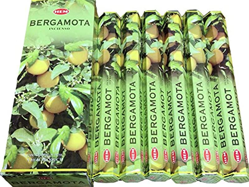 伝染性不一致科学者HEM ヘム ベルガモット BERGAMOTA ステック お香 6本 セット