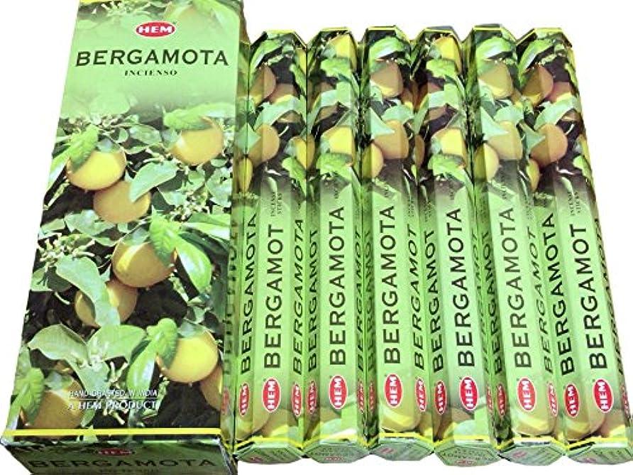 寛大さ残る雑種HEM ヘム ベルガモット BERGAMOTA ステック お香 6本 セット