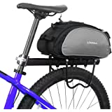 Lixada Bicycle Bag 13L Multifunctional Outdoor Cycling Bike Rack Seat Bag Rear Trunk Pannier Handbag Shoulder Bag
