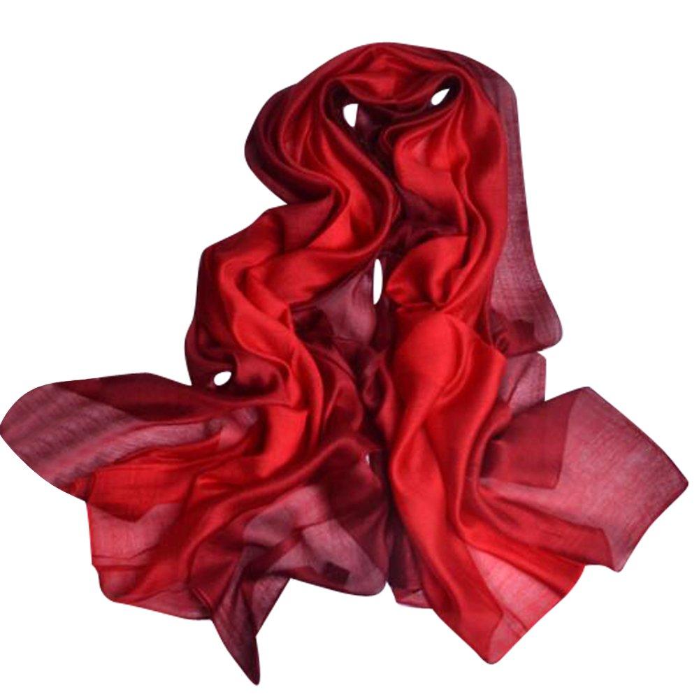 b71cea32c2a93 上質 シルク 大判 ストール ショール スカーフ マフラー 絹のスカーフ 赤 赤