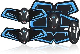 Aukepate 多機能 EMS 腹筋ベルト超薄、静音 自動的に筋肉トレーニング 男女兼用 日本語説明書 USB充電式 …
