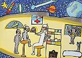 【DXポスター】子供地球基金のアートポスター 宇宙飛行士のお医者さん 宇宙 インテリア 壁飾り P-A2-KEF-KEF-162-0 P-A2-KEF-KEF-162-0