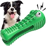 VRTOP Dog Chew Toys for Aggressive Chewers Large Medium Breed Squeaky Big Dogs Toys Nearly Indestructible Extra Tough Durable
