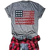 Chulianyouhuo Women's Merica USA Flag Baseball T-Shirt Printed O-Neck Causal Tee Tops Blouse