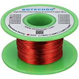 """BNTECHGO 22 AWG Magnet Wire - Enameled Copper Wire - Enameled Magnet Winding Wire - 4 oz - 0.0256"""" Diameter 1 Spool Coil Red"""