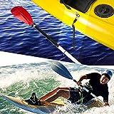 Overmont カヤック カヌー用 パドル リーシュ ストラップコード 2個 釣り竿 ポールコイル タイロープ 伸縮性 155cm 画像