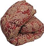 羽毛布団 シングル 国産 日本製 レッド 軽量 良質な羽毛 ホワイトダックダウン ロイヤルゴールドラベル認定 ボリュームたっぷり ダウン90%以上 羽毛掛け布団 布団 ふとん