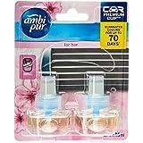Ambi Pur Premium Clip Car Air Freshener For Her Refill 2 x 7.5mL
