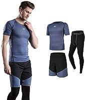 (シーヤ) Seeya コンプレッションウェア セット スポーツウェア メンズ 長袖 半袖 冬 上下 5点セット 6カラー ?#21435;颮`ニング ランニング 吸汗 速乾