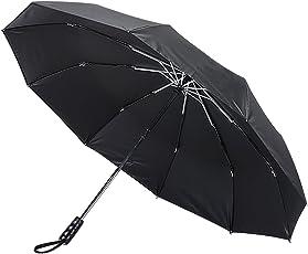 NPET 折り畳み傘 ワンタッチ自動開閉 10本骨 140cm ブラック