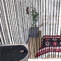 ひものれん カフェカーテン 【140×100cm】ブラック