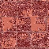 シンコール  壁紙31m  レンガ・タイル調  レッド  BB-8437