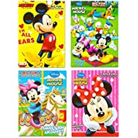Disney 's Mickey Mouse & MinnieマウスPlus Friendsカラーリングブック(セットof 4 ) Made in USA