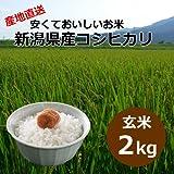 【自宅用】[玄米]安くておいしいお米 新潟県産コシヒカリ[2キロ]