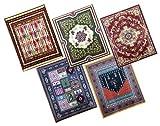 全5種 高級絨毯のようなマウスパッド 光学対応マウスラグ 滑り止め搭載 オシャレ インテリア (Aカラー)