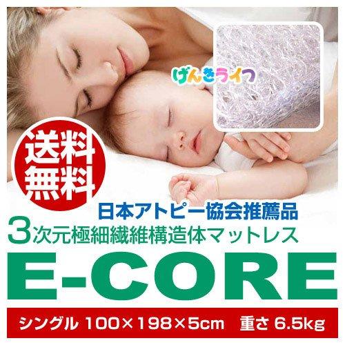 【エコワールド】高反発マットレスE-CORE(イーコア)(シングル)