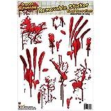 Forum Novelties Bloody Bathroom Tile Clings, Red