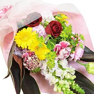 エルフルール 生花 おまかせ花束 結婚祝い プレゼント 送別 バラ 花束 誕生日 祝い 卒業 退職 ホワイトデー