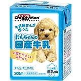 ドギーマン わんちゃんの国産牛乳 全犬種用 200ml×24個 (ケース販売)