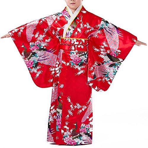 子供用 孔雀 花柄 着物 浴衣ドレス 伝統 和装 着物風 よ...
