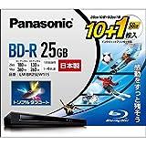 4倍速ブルーレイディスク(追記)25GB10枚+50GB1枚P Panasonic パナソニック LM-BR25LW11S