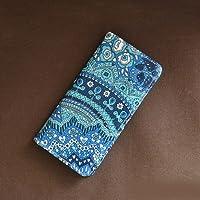 iPhone X ケース 手帳型 リバティ ジェニーズファン(ブルー)コーティング SHOKO MIYAMOTO かわいい おしゃれ マグネット無しでカード安全 スマホケース アイフォンケース Liberty