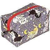 ペットラバーズ HappyFabric キャラメルポーチ CP-140C 猫 夜遊び