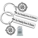 Best Friend Keychain Gift, True Friendship Knows No Distance Keychain Friendship Gifts Long Distance Relationship Gifts Gradu