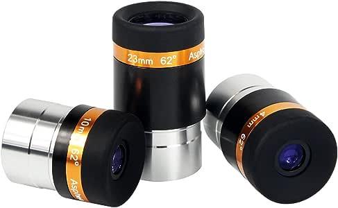 SVBONY 接眼レンズセット 望遠鏡用 接眼レンズ 62°広角アイピース 1.25インチ