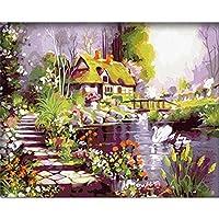 [木製フレーム] ALB 16インチ*20インチ、ナンバーで描くDIY絵画、有名絵画コレクション 3 ALB