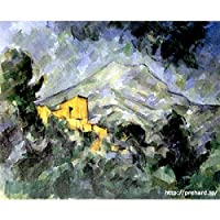 セザンヌ 「サント ヴィクトワール山とシャトー ノワール」 原画同縮尺近似(12号) (世界の名画PREHARDデジタグラフ)G-オペラゴールド