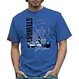 RETRO GP ジャッキー・スチュワート メンズTシャツ Jackie Stewart Mens T-shirt Bl…
