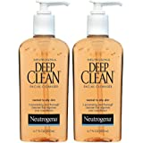Neutrogena Deep Clean Daily Facial Cleanser with Beta Hydroxy Acid for Normal to Oily Skin, Alcohol-Free, Oil-Free & Non-Come