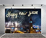 leyiyi 6?x 4ft Photography Backgroud Happy New Year Backdrop Hamburg landmark colbrandtブリッジElbe Firecrackers Germany Night View BokehボートライトカーニバルフォトPortraitビニールStudioビデオProp